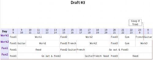 Timetable Draft #3